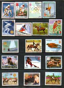 Paraguay - Topical Stamp Lot - Sports - No Gum