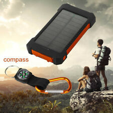 Universal 50000mah Solar Power Bank 2usb LED Backup Battery Charger for Iphone7 Red