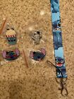 Stitch Disney Pin Lot . FREE STITCH LANYARD US SELLER!