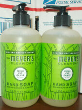 Mrs Meyer's Clean Day Fresh Cut Grass Liquid Hand Soap 12.5 fl oz 2 Pack NEW