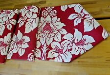 Laura Ashley Table Runner Linen bright Red floral christmas party 14x54''  135cm