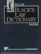 Black's Law Dictionary by Henry Campbell Black ~ 6th Edition 1990