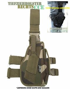 Mil-Tec®| Tiefziehholster Rechts Woodland Beinholster Pistolenholster 16140024