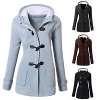 Women Cotton Slim Jacket Thick Parka Overcoat Winter Outwear Hooded Coat