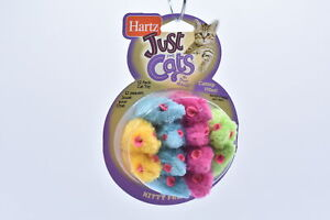 LOT OF 2 Hartz Just for Cats Catnip Filled Kitty Frenzy Multicolored Mice