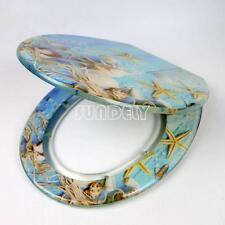 Starfish Novelty Beach Toilet Seat Resin | Chrome Metal Bottom Fixing Hinges