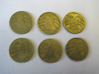 Weimarer Republik 5 Reichspfennig 1925 A, D, E, F, G, J    #2301