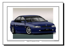 Holden VT Commodore SS (blue)  Colour Print