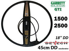 "DETECH EXCELERATOR 18"" DD bobina per Garrett GTI 1500, GTI 2500 METAL DETECTOR"
