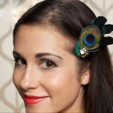 Rhinestones Unique Cute Peacock Feather Bridal Wedding HairClip Headwear