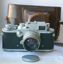 1954! ZORKI-3 Russian Camera Leica III Copy Jupiter-8 2/50 lens Tested