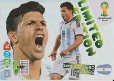 Panini ADRENALYN XL Copa del Mundo 2014 edición limitada de Sergio Agüero