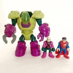 Imaginext DC Super Friends LEX LUTHOR MECH MECHANICAL SUIT Lex Figure & Superman