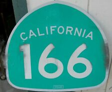 """Classic Salvaged California Route 166 Road Reflection Sign 24"""" W X 25"""" T As Is"""