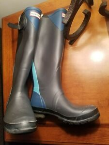 Hunter Original Tall Gloss Rain Boots Size 8F,  EU 39, EUC!!