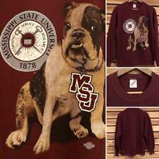 MINT VTG 90s Maroon Jerzees Mississippi State Bulldogs Crew Neck Sweat Shirt L