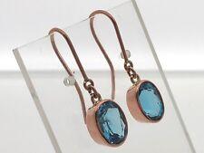 London Blue Topaz rose gold French hook earrings