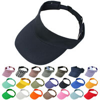 Visor Sun Plain Hat Sports Cap Colors Golf Tennis Beach Adjustable Men Women
