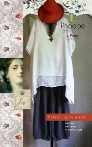 Tina Givens Phoebe Shirt & Pants Pattern, Sz 4-16