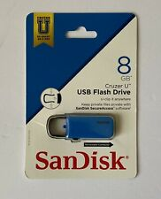 Brand New SanDisk 8GB Cruzer U USB Flash Drive SDCZ59-008G-AB (Blue)