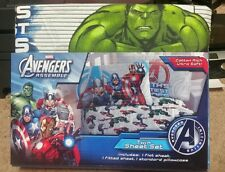 Avengers Thor, Iron Man, Hulk, Captain america Twin/Single Size Sheet Set