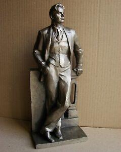 Russian Soviet USSR Sculpture Statue metal Mayakovsky futurist Avant garde LARGE