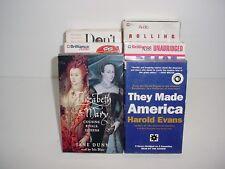 Lot of 6 History America Cassette Tape Audio Books