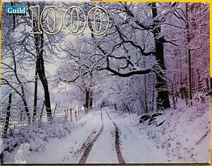 Vintage Guild Jigsaw Puzzle Snow Scene Through The Winter Woods 1000 Pieces