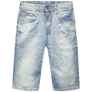 SIMPLY JEANS Mens Jeans Denim Stylish Shorts Plain Light Stone - Knee length