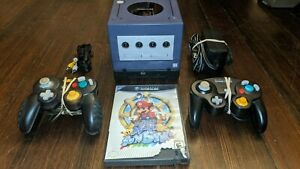 Indigo Nintendo GameCube Console Bundle With Mario Sunshine, Gameboy Player, +++