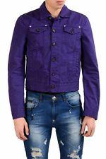 Dsquared2 Men's Purple Button Up Light Jacket US S IT 48