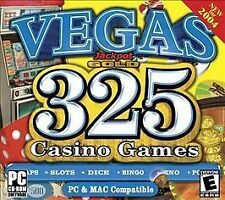 VIDEO GAME PC Vegas Jackpot Gold 325 Casino Games Craps Slots Dice Keno 2004 NEW