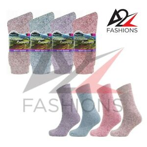 12 Pairs Ladies Womens Soft Comfort Outdoor Boot Thermal Winter Thick Warm Socks