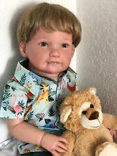 "Reborn 30"" chubby toddler boy doll ""Tristan "" (Janne deLange) Ready To Ship!"