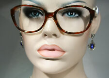 Unworn LUMOA Finnish Oversized Glasses Frames in Crystal Decorated Havana Brown