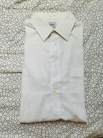 "Easycare by Debenhams Men's Size:42"" Collar 16.5""Long Sleeve White Striped Shirt"