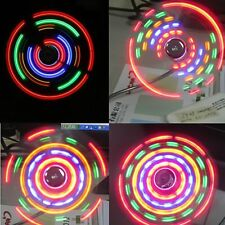 Mini Flexible Desktop Computer Notebook PC Colorful LED Light USB Fan