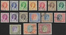 Rhodesia & Nyasaland - SG 1-15 - 1954-56 - Definitive Set of 16 - Used