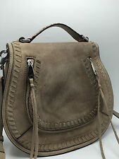 1C1 Rebecca Minkoff Vanity Crossbody Leather Suede Saddle Casual Bag Women $325