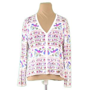 Roberta Di Camerino Cardigan White Pink Woman Authentic Used L1039