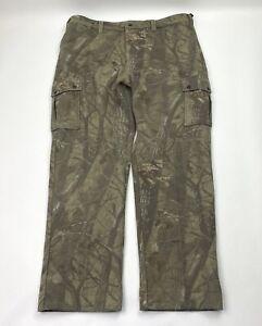 Woolrich Mens Heavyweight Wool Cargo Trouser Pants Size XL Realtree Hardwoods