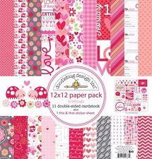 "Doodlebug Lovebugs Paper Pack 12x12"" 11 Bogen doppelseitig +1 Bogen Sticker NEU"