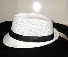 Cuban Cigars Smooth Criminal Men Women Paper Staw Fedora Hat Trilby Short Brim