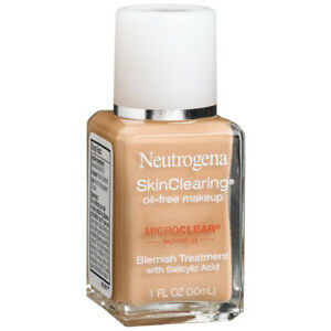 Neutrogena SkinClearing Liquid Makeup,Natural Beige 60 1oz (2/Pack)