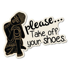 Please Take Off Your Shoes Buddha Sticker Home Decals Stickers #5186EN-W