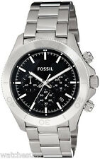Fossil CH2848 Retro Black Dial Stainless Steel Chronograph Men's Watch