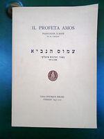 """Il profeta Amos"" M.VARADI ISRAEL FIRENZE 1947 EBRAISMO"