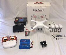 DJI Phantom 2 Standard Quadcopter Camera Drone w/ Extras!!! (Broken Gimbal)