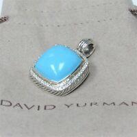 David Yurman Classic Enhancer Albion 20mm Turquoise With Diamond