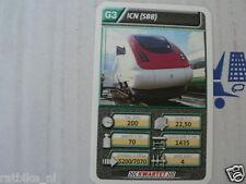 22 SUPER TRAIN G3 ICN SBB TREIN KWARTET KAART, QUARTETT CARD